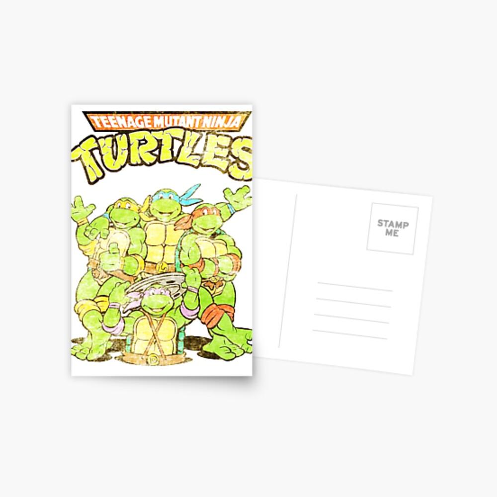 Retro Ninja Turtles Postcard