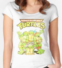 Retro Ninja Turtles Women's Fitted Scoop T-Shirt