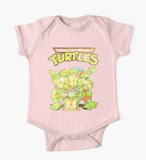 Retro Ninja Turtles One Piece - Short Sleeve