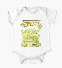 Retro Ninja Turtles Short Sleeve Baby One-Piece