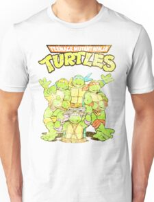 Distressed Vintage Unisex Ninja Turtles T-shirt