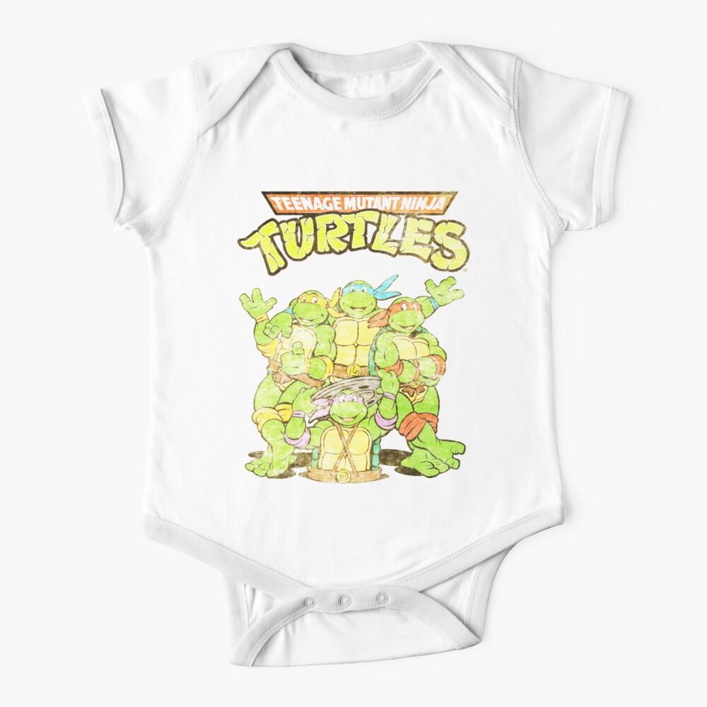 Retro Ninja Turtles Baby One-Piece