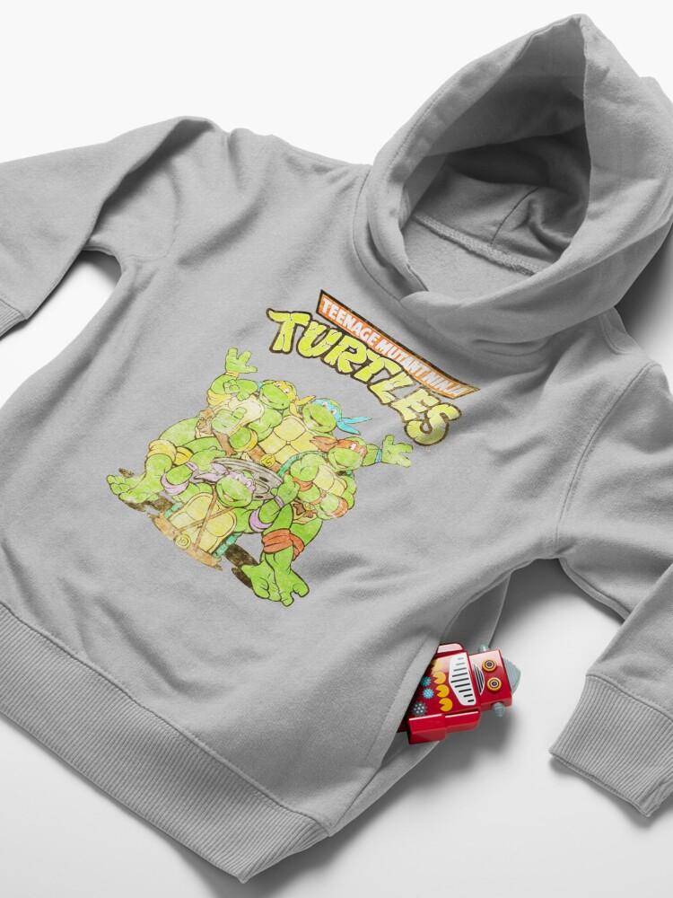 Alternate view of Retro Ninja Turtles Toddler Pullover Hoodie