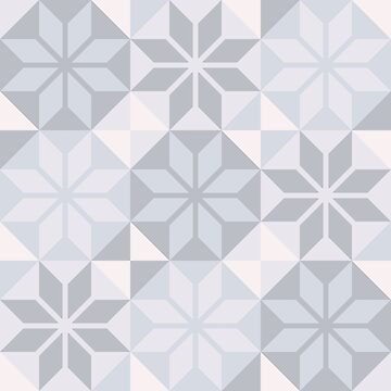 Geometric Pattern: Eight Petal Flower: Grey by redwolfoz