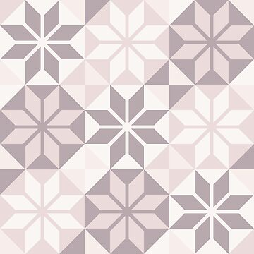 Geometric Pattern: Eight Petal Flower: Brown by redwolfoz