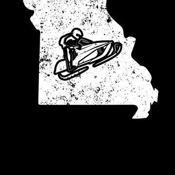 Missouri Snowmobile Racing Shirt Snowmachine Shirt by shoppzee