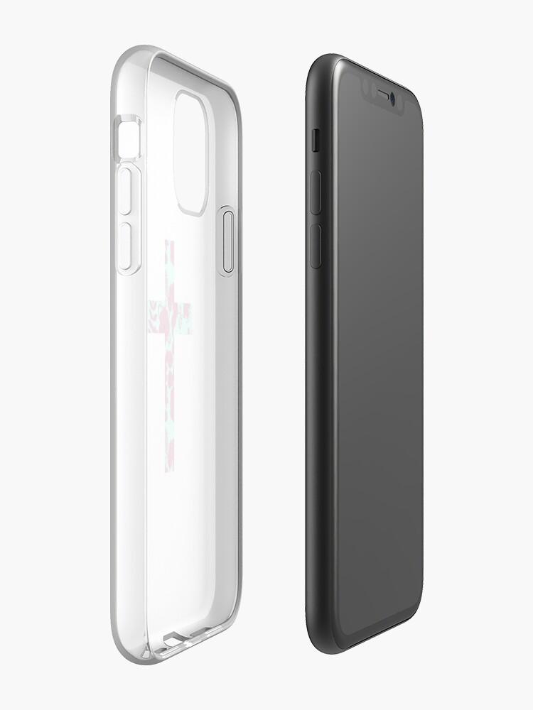 Coque iPhone «Croix florale de Pâques Design», par StylishTayla