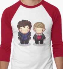 The Detective and the Doctor Men's Baseball ¾ T-Shirt