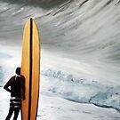 long board surfer by dave reynolds