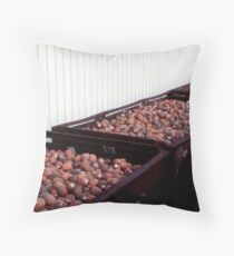 Truck-loads of pineapples. Throw Pillow