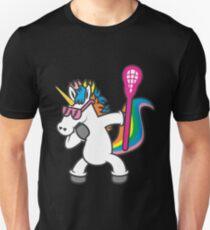 Tupfen-Einhorn-T-Shirt Lustiges Lacrosse-Tupfen-Hemd Unisex T-Shirt