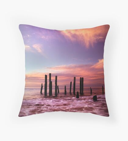 Wave Motion - Port Willunga. Throw Pillow