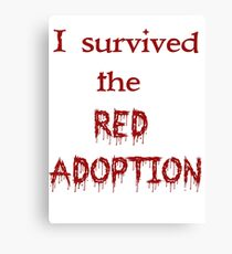 Red Adoption Canvas Print