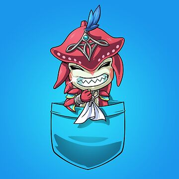 Pocket Baby Sidon Breath of the Wild Champion tshirt by Purrdemonium