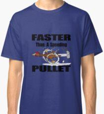 Funny running chicken cartoon Classic T-Shirt