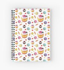 Cupcakes and French Macaroons Party - Maive Ferrando Spiral Notebook