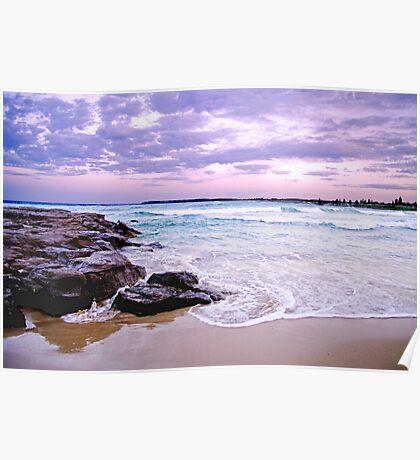 Watercape: Headlands sunset II Poster