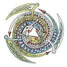Celtic Dragons Spiral by Carrie Dennison