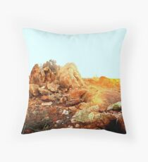 he showed me the moon on earth Throw Pillow