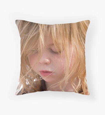 Lily - a study in concentration Throw Pillow