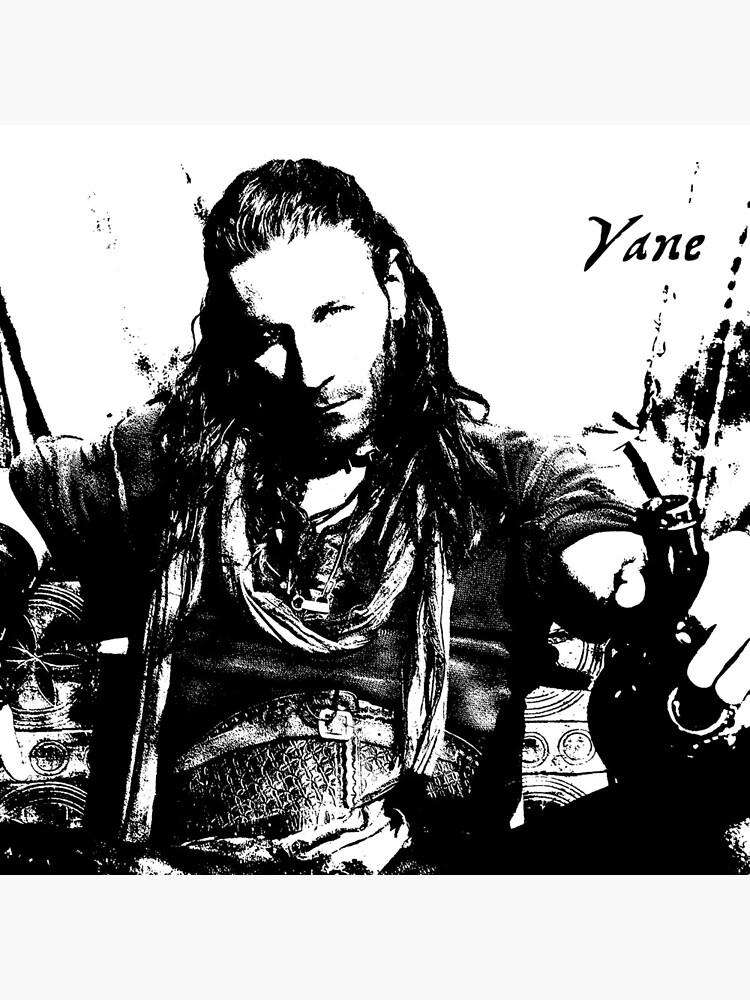 Piraten-Kapitän Charles Vane, schwarze Segel, sitzender trinkender Rum-Schattenbild von ChallengerB