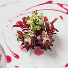 Wild Hibiscus Flower with Goat Cheese and Almonds by HiddenRockRanch