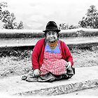 Brave Ecuador Quechuan Indian Woman II by Al Bourassa
