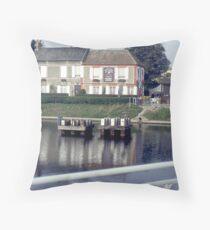 Pegasus Bridge, Ouistreham, France. Throw Pillow