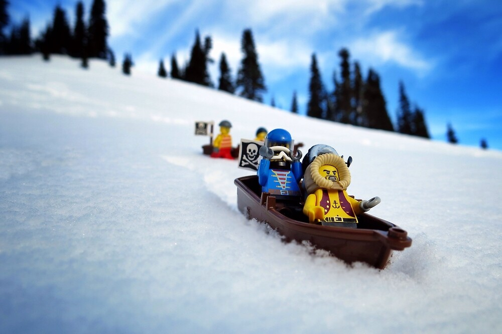 Pirates like sledding by bricksailboat