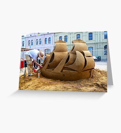 Ship of Sand Greeting Card