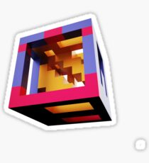 cubist voxel Sticker