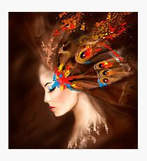 Fantasy Portrait beautiful woman butterfly Photographic Print