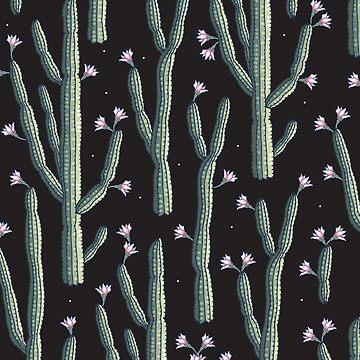 Beautiful cacti bloom by smalldrawing
