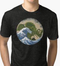 Hokusai Cthulhu Tri-blend T-Shirt