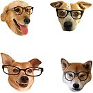 Doggo Stickers: Glasses #1 by Elisecv