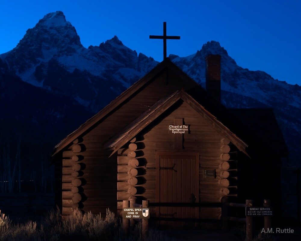 Lightpainting Chapel of the Transfiguration by A.M. Ruttle