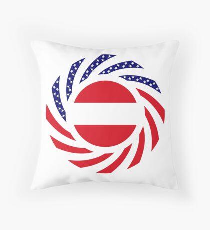 Austrian American Multinational Patriot Flag Series Throw Pillow