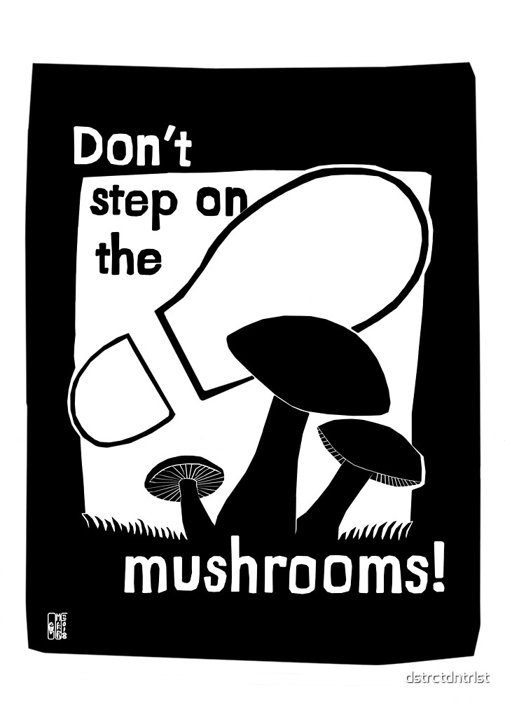 Don't step on the mushrooms! by dstrctdntrlst