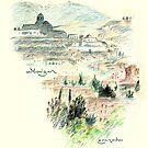 «Granada · Vista del Albaicín al amanecer» de reflejArte