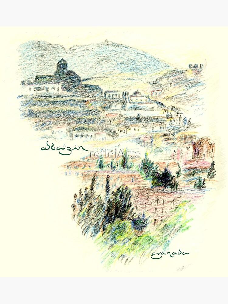Granada · View of the Albaicín at dawn by reflejArte