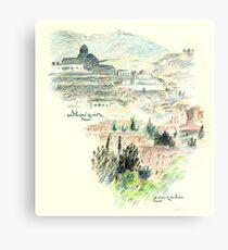 Granada · Vista del Albaicín al amanecer Lienzo metálico