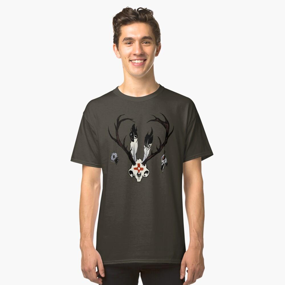 Ceremonial Jackalope Skull Classic T-Shirt Front
