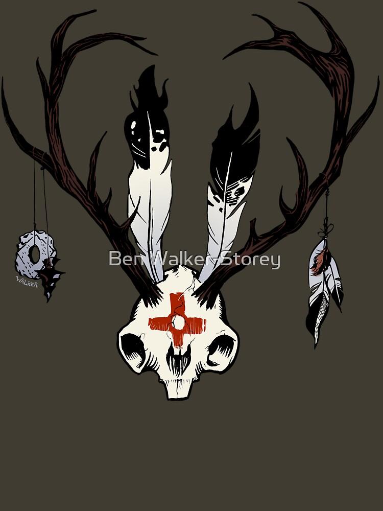 Ceremonial Jackalope Skull by ThatBenWalker
