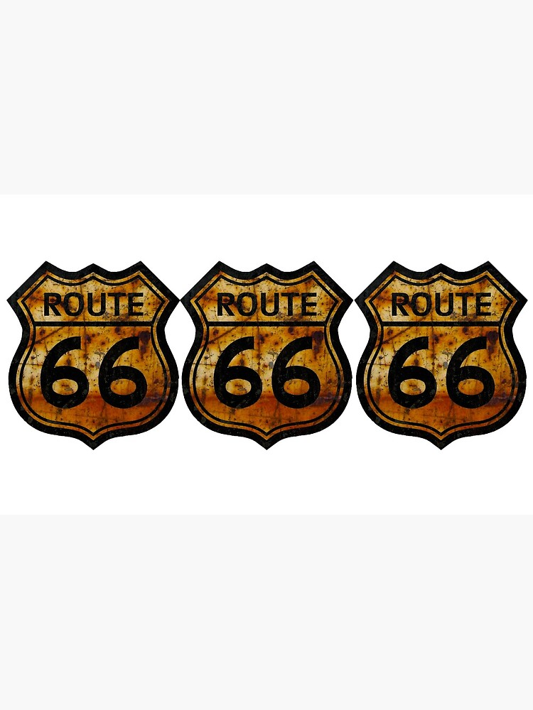ROUTE 66 RUSTED SIGN by TEETEASER