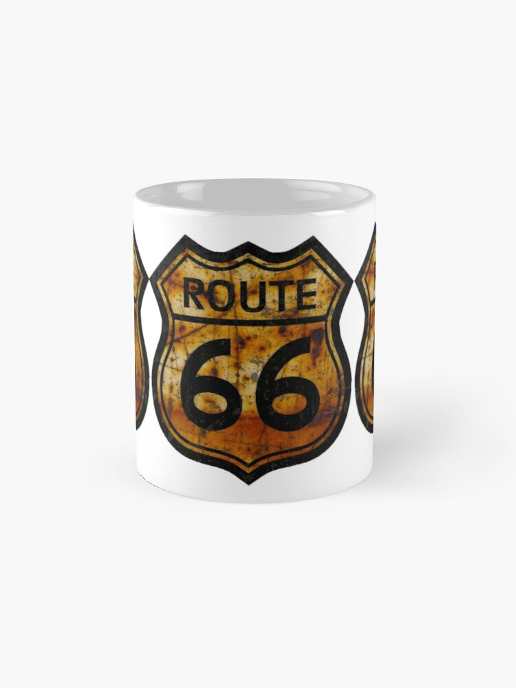 Alternate view of ROUTE 66 RUSTED SIGN Mugs