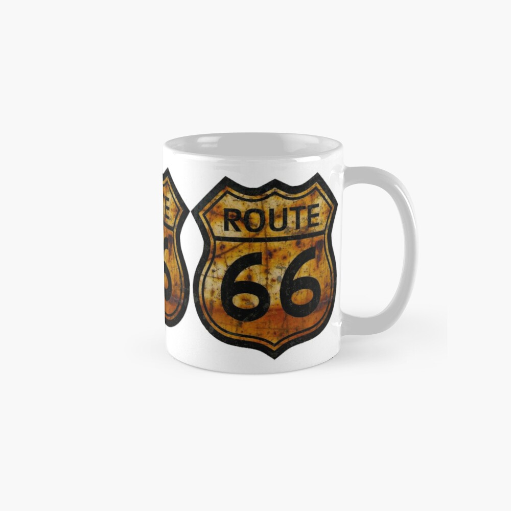 ROUTE 66 RUSTED SIGN Mugs