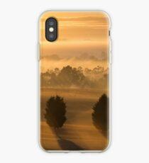 Misty Tree Sunrise iPhone Case