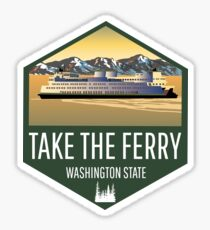 Take the Ferry Sticker