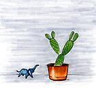 The Cactus & The Happy Elephant by MichalisStudio