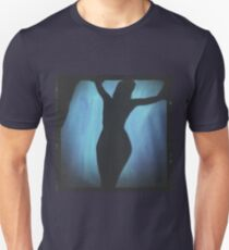 Young lady nude silhouette medium format analog erotic mixed media T-Shirt